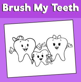 Teeth Coloring Page