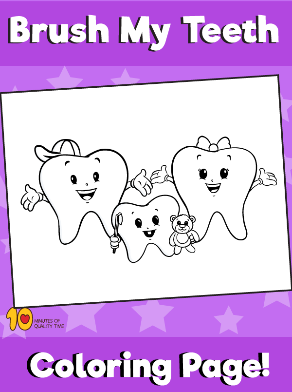 Teeth Coloring Page
