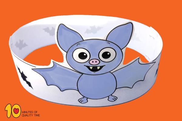 Bat Paper Crown for Halloween