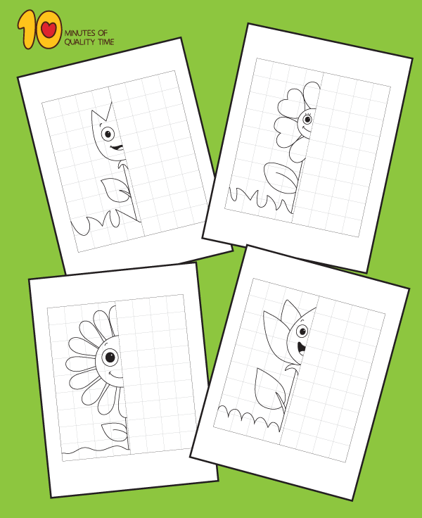 Flower-Symmetry-Worksheets