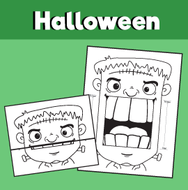 Frankenstein's Monster Halloween Surprise Expression