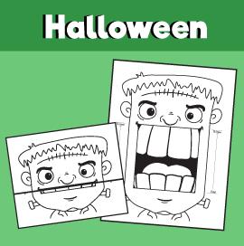 Frankenstein's Monster Halloween Surprise Expression