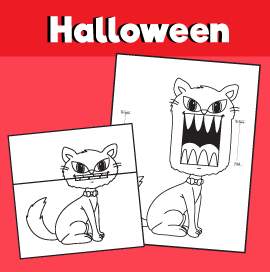 Scary Cat Halloween Surprise Expression