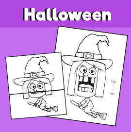 Witch Halloween Surprise Expression