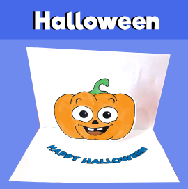 Pumpkin Pop Up Card for Halloween
