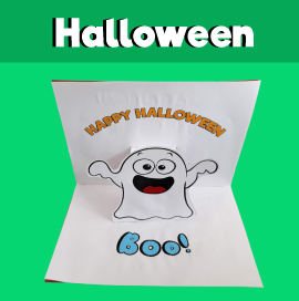 Ghost Pop Up Card for Halloween