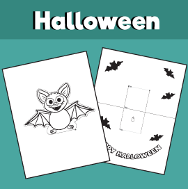 Bat Pop Up Card for Halloween