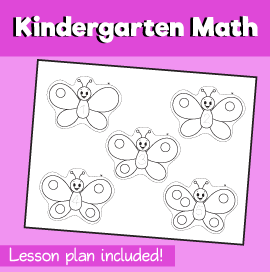 Math-for-Kindergarten-Five-Butterflies-Fly-Away