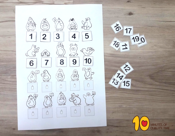 Math-lesson plan for kindergarten - counting from 1 to 20