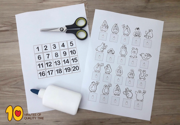 Easy math printable for preschool