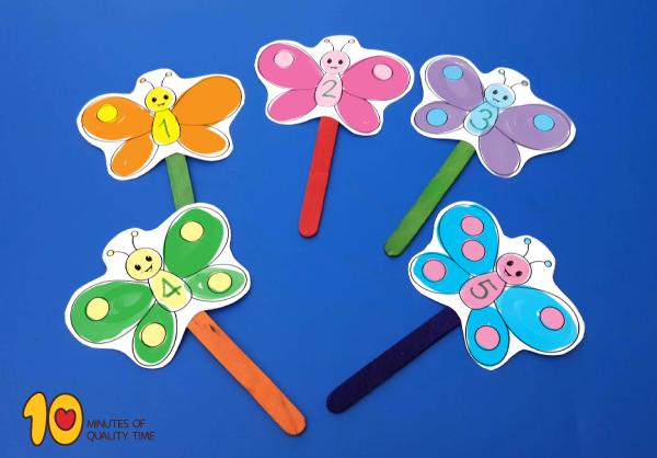 Math-for-Preschool-Five-Butterflies-Fly-Away