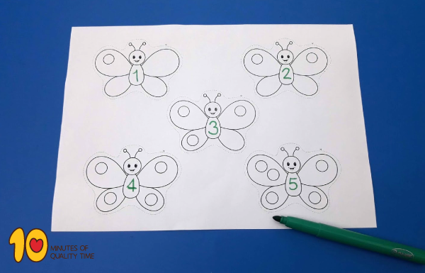 Lesson plan - math for kids - butterfly game