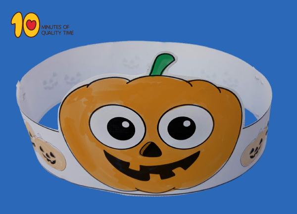 Pumpkin Paper Crown for Halloween