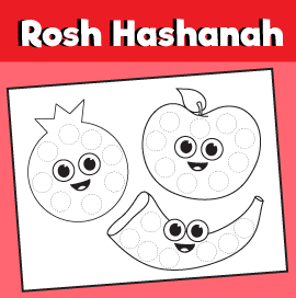 Rosh Hashanah Printable Do a Dot