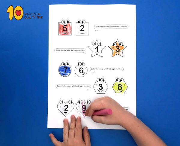 Which number is bigger - lesson plan