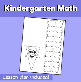 Kindergarten learning to count - Count the Ice Cream Scoops