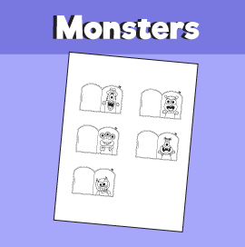 Finger Family Monster Printable