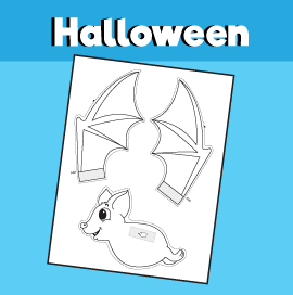 Flying Bat Halloween Craft