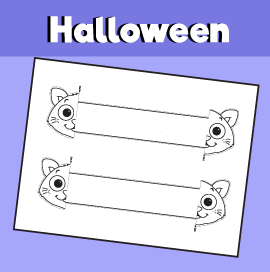 Halloween Cat Printable Bracelet