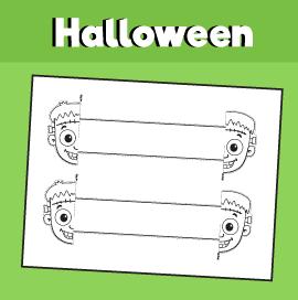 Halloween Frankenstein Printable Bracelet