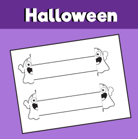 Halloween Ghost Printable Bracelet