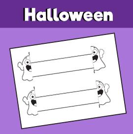 Halloween Ghost Printable Bracelet