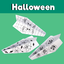 Halloween Paper Airplane Printable Templates