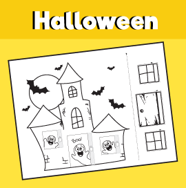 Haunted House Printable Craft