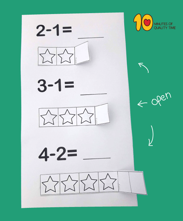 Subtraction lesson plan for kids - math