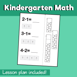 Math for Kindergarten - How Many Are Left
