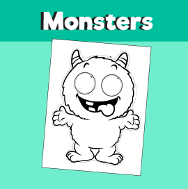 Monster Printable Mask