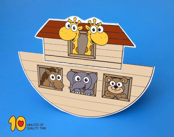photo relating to Noah's Ark Printable called Rocking Noahs Ark Craft 10 Minutes of High-quality Season