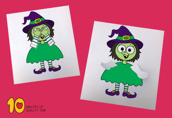 Peekaboo Witch printable craft