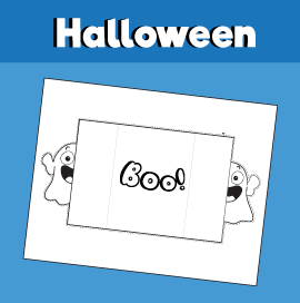 Printable Ghost Halloween Card