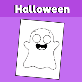 Printable Halloween Ghost Mask