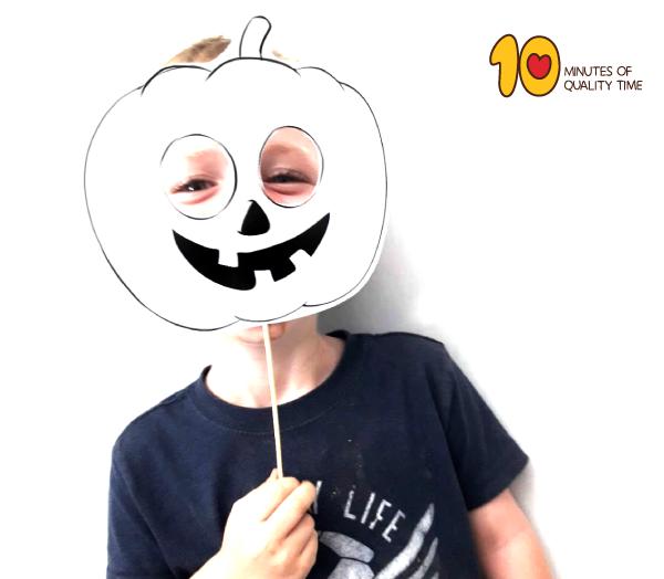Printable Halloween Pumpkin Jack O Lantern Mask 10