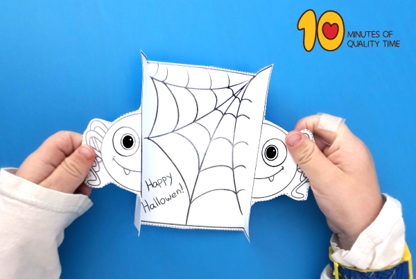 Printable Spider Halloween Card