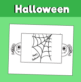 Printable Spider Halloween Card