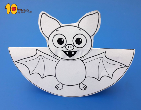 photo regarding Halloween Craft Printable named Rocking Bat Printable Craft 10 Minutes of Excellent Period