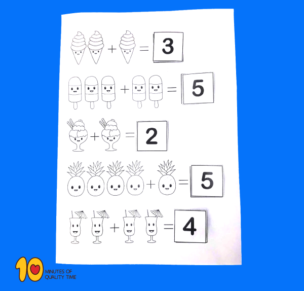 Simple addition lesson plan for kindergarten