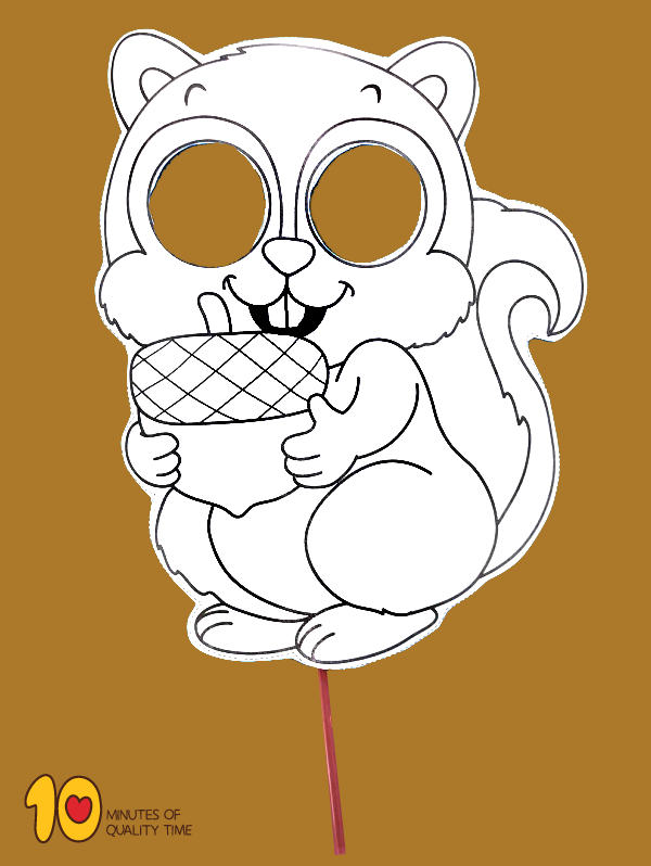 Squirrel Printable Mask 10 Minutes