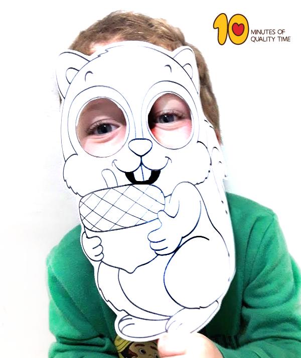 Squirrel Printable Mask