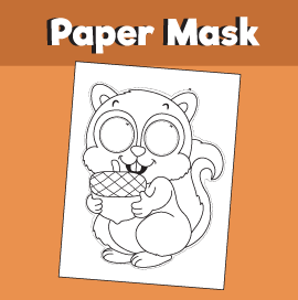 Squirrel Printable Mask