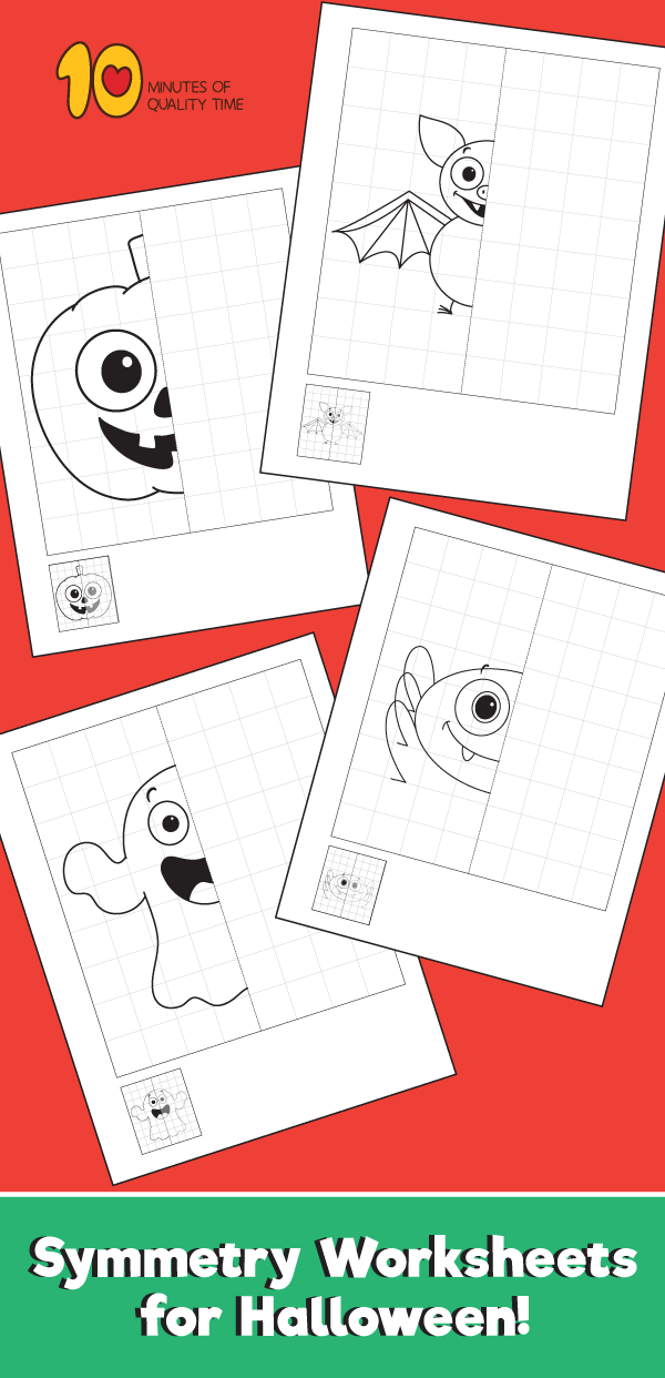 Symmetry Worksheets For Halloween 10 Minutes Of Quality Time