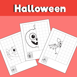Symmetry Worksheets for Halloween