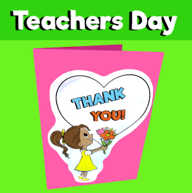 Teachers Day Card Template