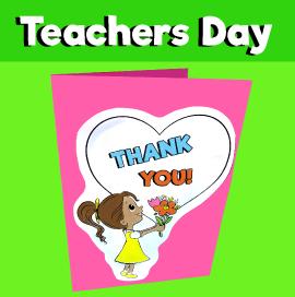 Teachers Day Card Template