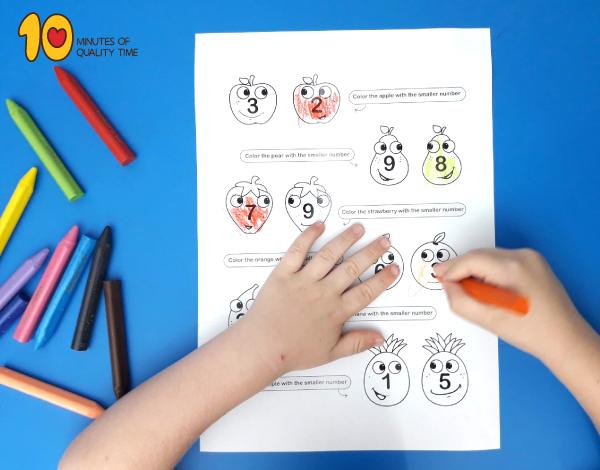 Math for kindergarten - which is smaller