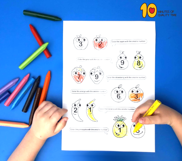 Compare numbers - Lesson plan for kindergarten