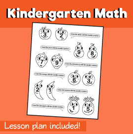 Math for Kindergarten - Which is Smaller (Fruits)